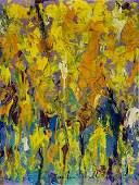 JOAN MITCHELL, Oil on canvas panel (Attrib)
