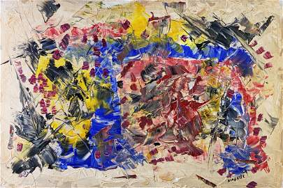 JEAN-PAUL RIOPELLE, Oil on Canvas (Attrib.)