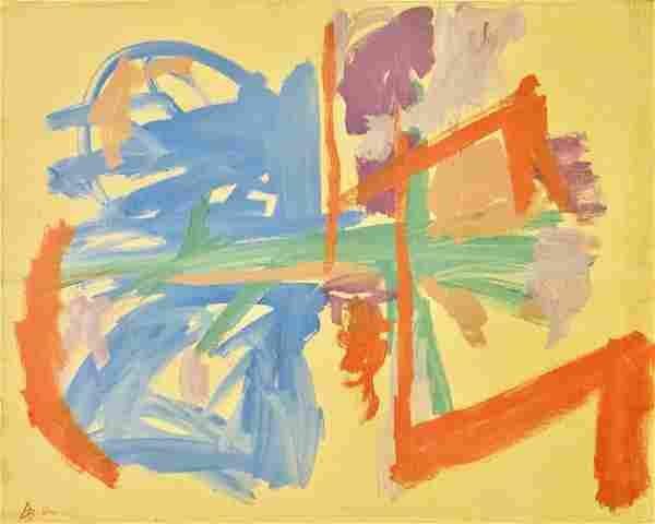 FRIEDEL DZUBAS, Acrylic on canvas (Attrib.)