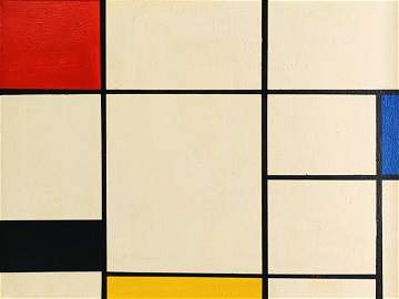 PIET MONDRIAN, Oil on Canvas (Attrib.)