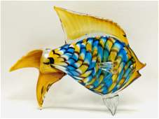 Large Murano Glass Figurine in the Shape of a Fish