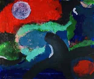 JAMES BROOKS, Acrylic on Canvas (Attrib.)