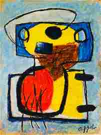 KAREL APPEL, Pastel on Paper (Attrib)