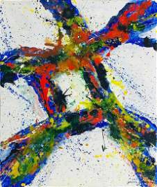 SAM FRANCIS, Oil on Canvas (Attrib)