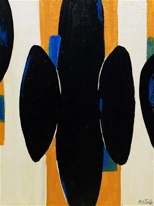 ROBERT MOTHERWELL, Oil on Canvas Panel (Attrib)