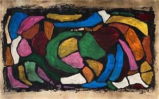 ANDRE LANSKOY, Oil on Paper (Attrib)