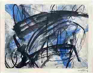 MICHAEL GOLDBERG, Mixed Media on Canvas Board (Attrib.)