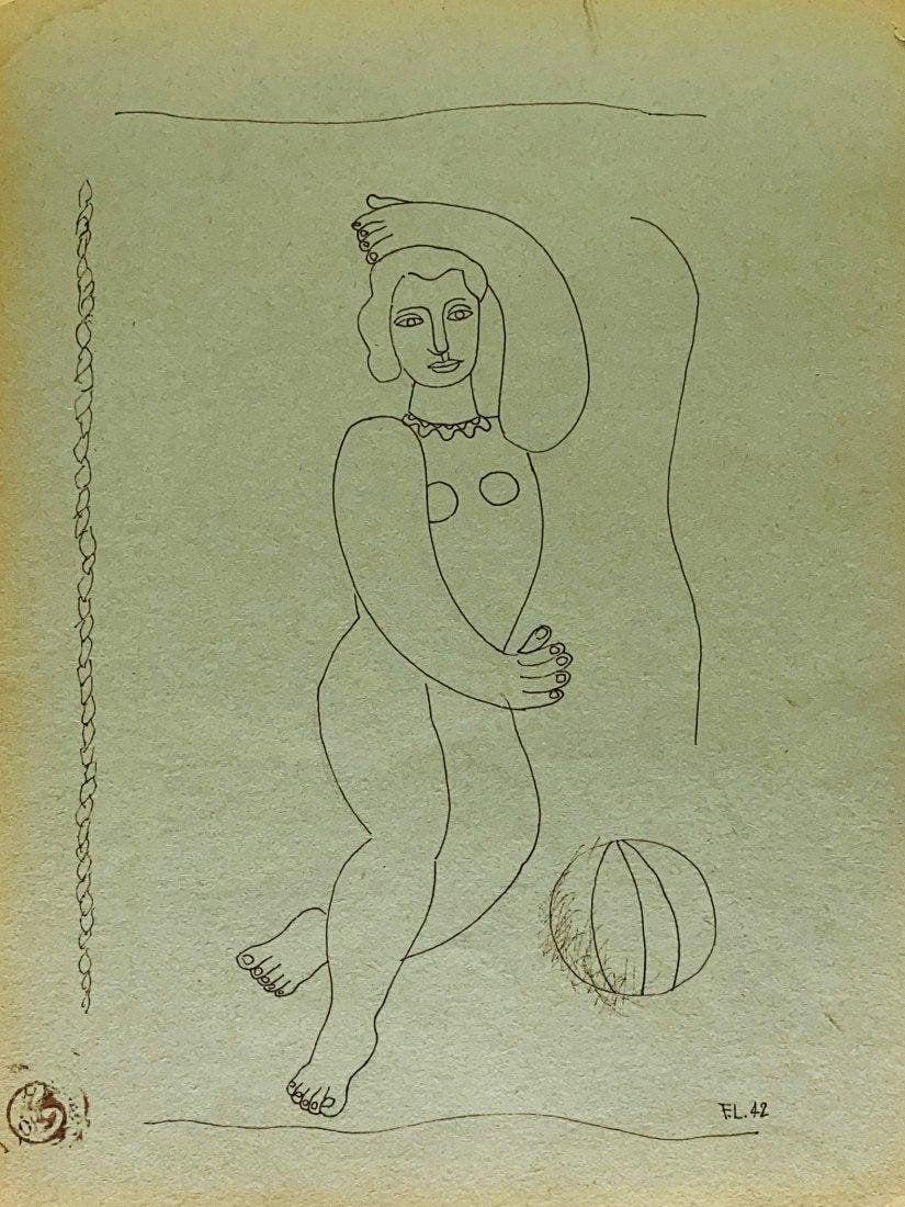 FERNAND LEGER, Ink on Paper (Attrib.)