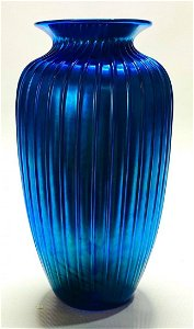 A Blue L.C. Tiffany Favrile Glass Vase