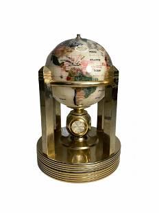 Beautiful Rotating Semi Precious Stone Desk Globe