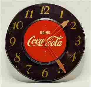 Vintage 1950s Coca Cola Advertisement Clock