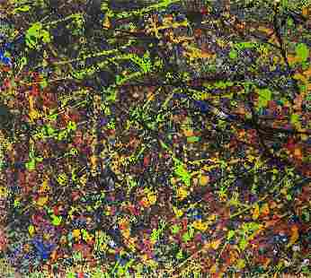 JACKSON POLLOCK, Oil on Cardboard (Attrib.)
