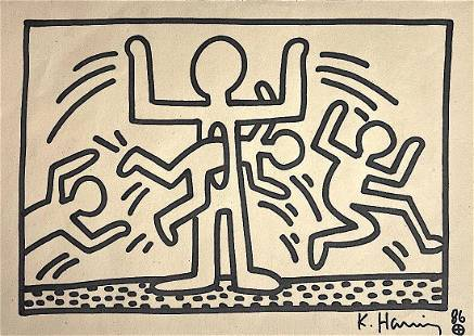 KEITH HARING, Marker on Paper (Attrib)