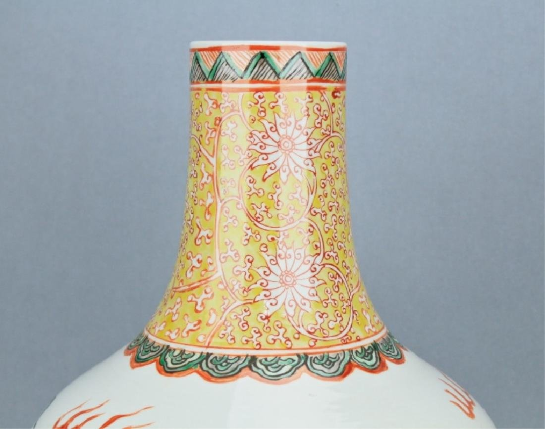 Qing Famille Rose Lion Vase GuangXu mark and perio - 2