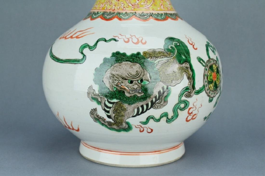Qing Famille Rose Lion Vase GuangXu mark and perio - 5