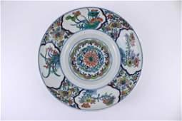 Qing Dou Cai Floral Porcelain Plate with YongZheng