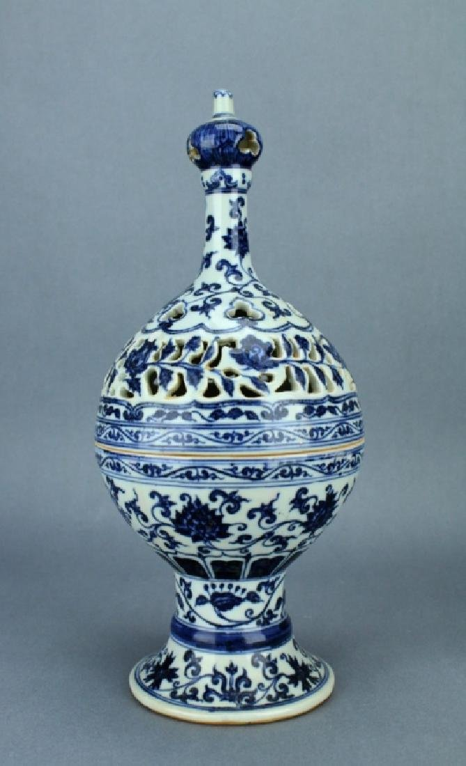 Ming Blue&White Vase Box YongLe Mark Period