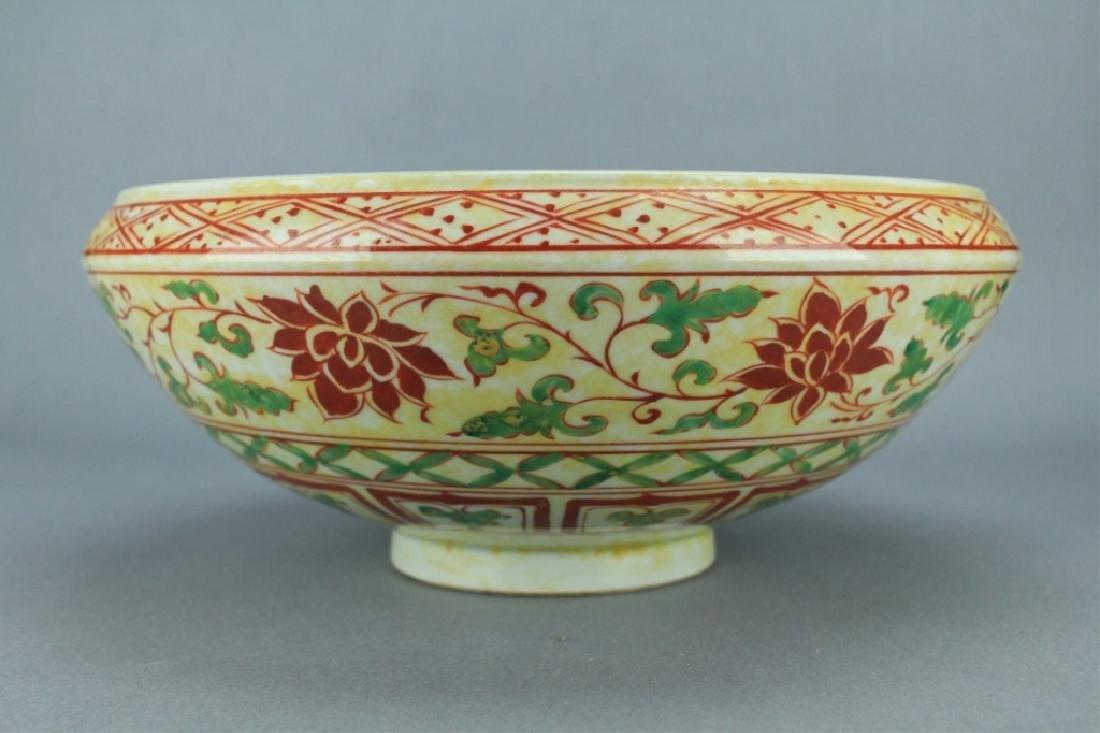 Ming Porcelain DouCai Lion Bowl XuanDe Period