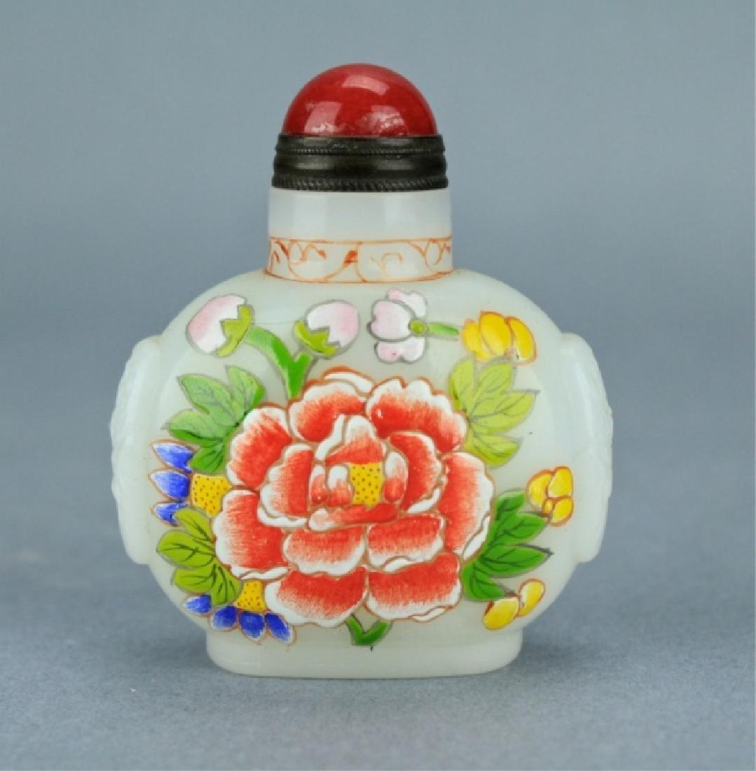 Qing Famille Rose Snuff Bottle QianLong Period