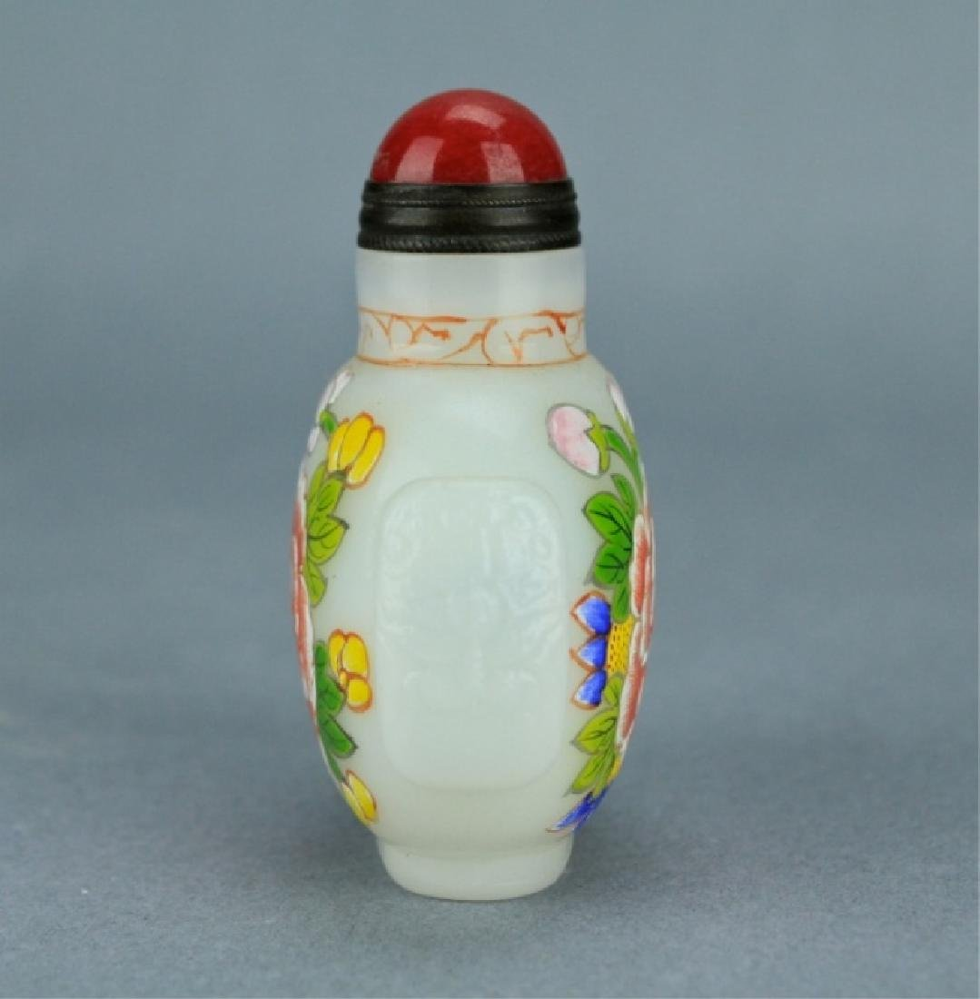 Qing Famille Rose Snuff Bottle QianLong Period - 2