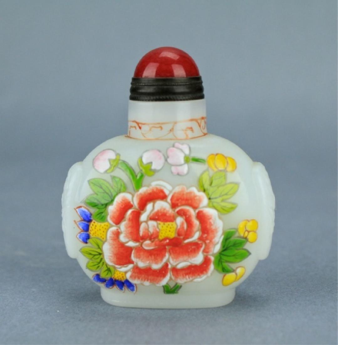 Qing Famille Rose Snuff Bottle QianLong Period - 3