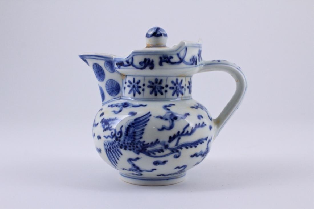 Ming Blue&White Porcelain TeaPot ChengHua Mark