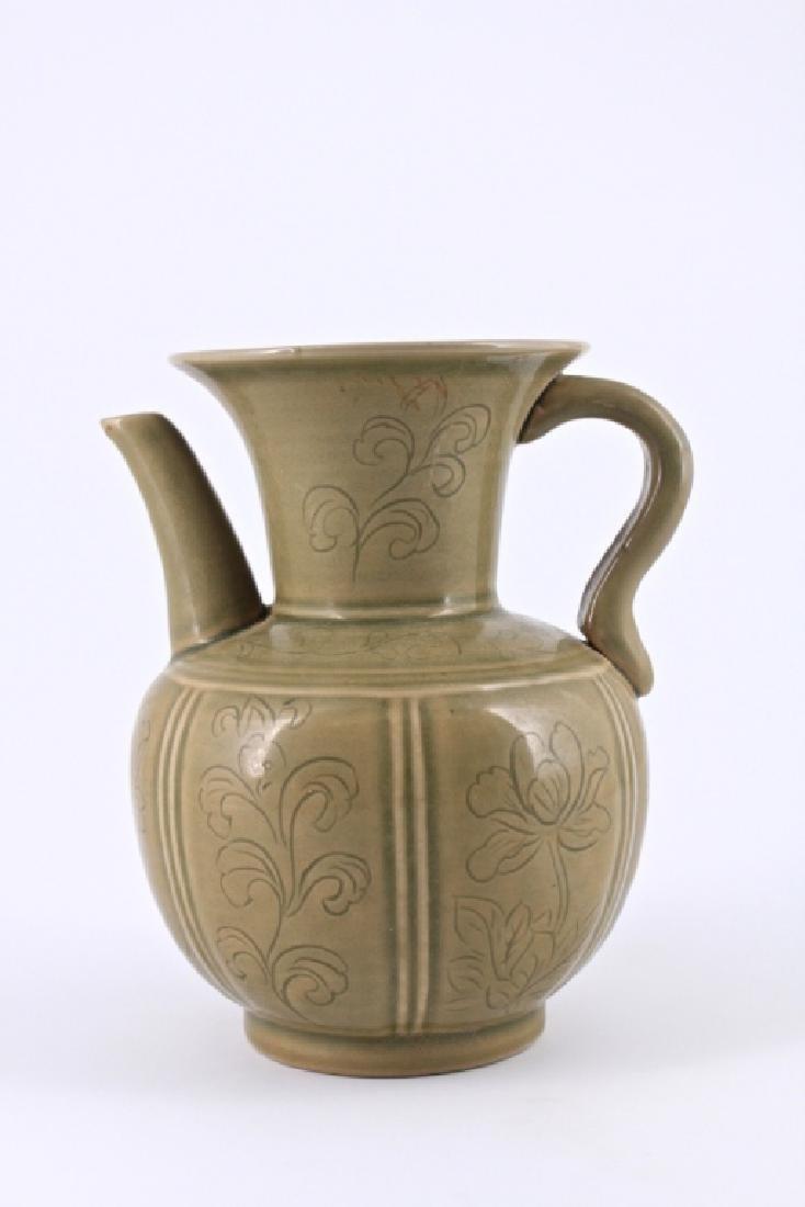 Song Yao Zhou Ci Floral Porcelain TeaPot