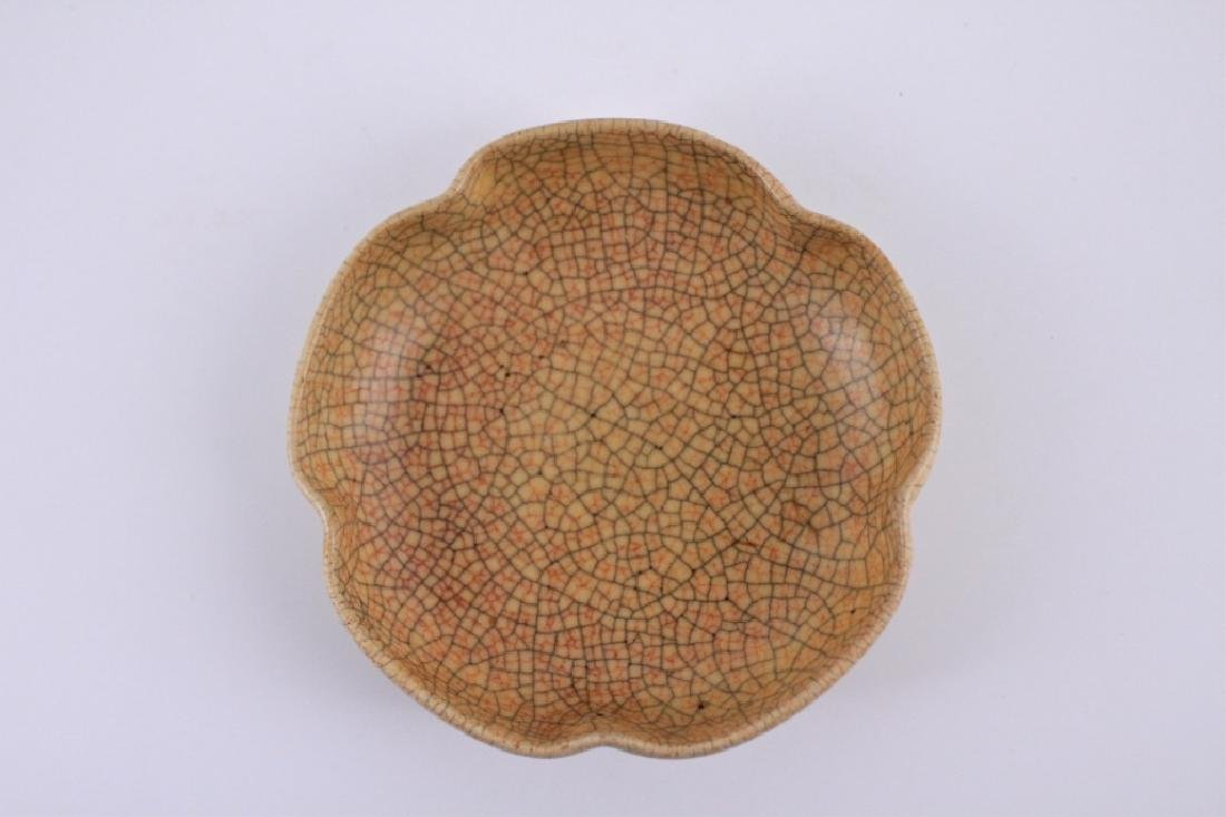 Song GeYao Porcelain Crackle Plate