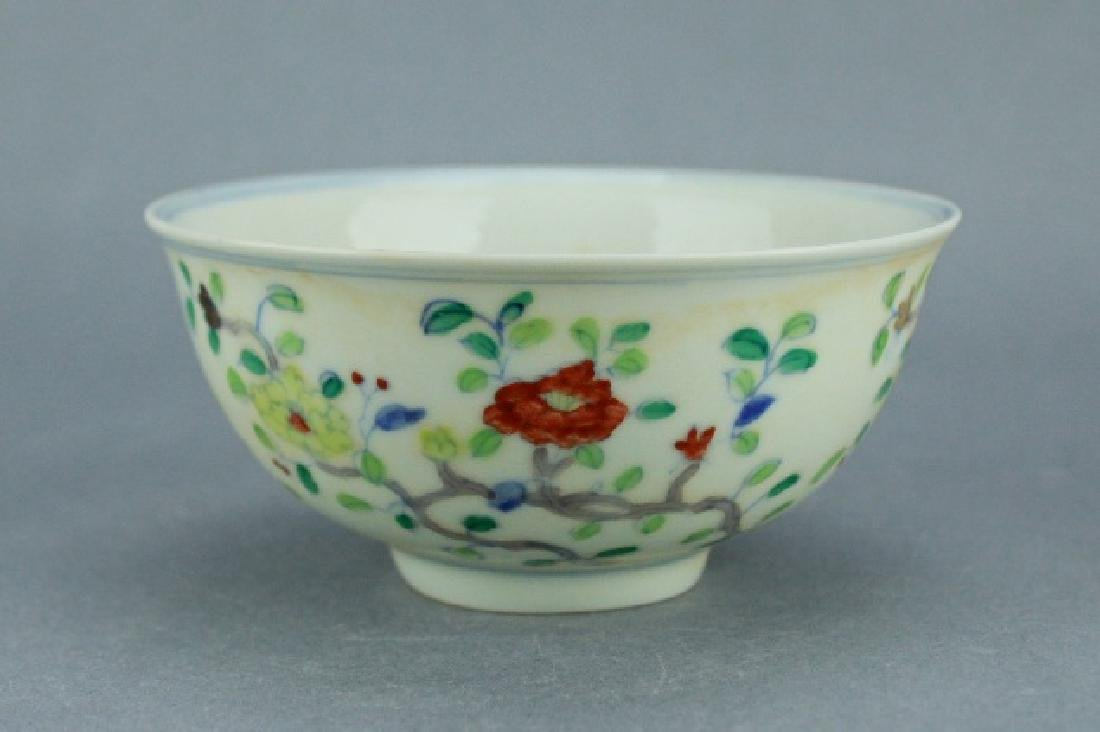 Ming DouCai Porcelain Bowl ChengHua Mark