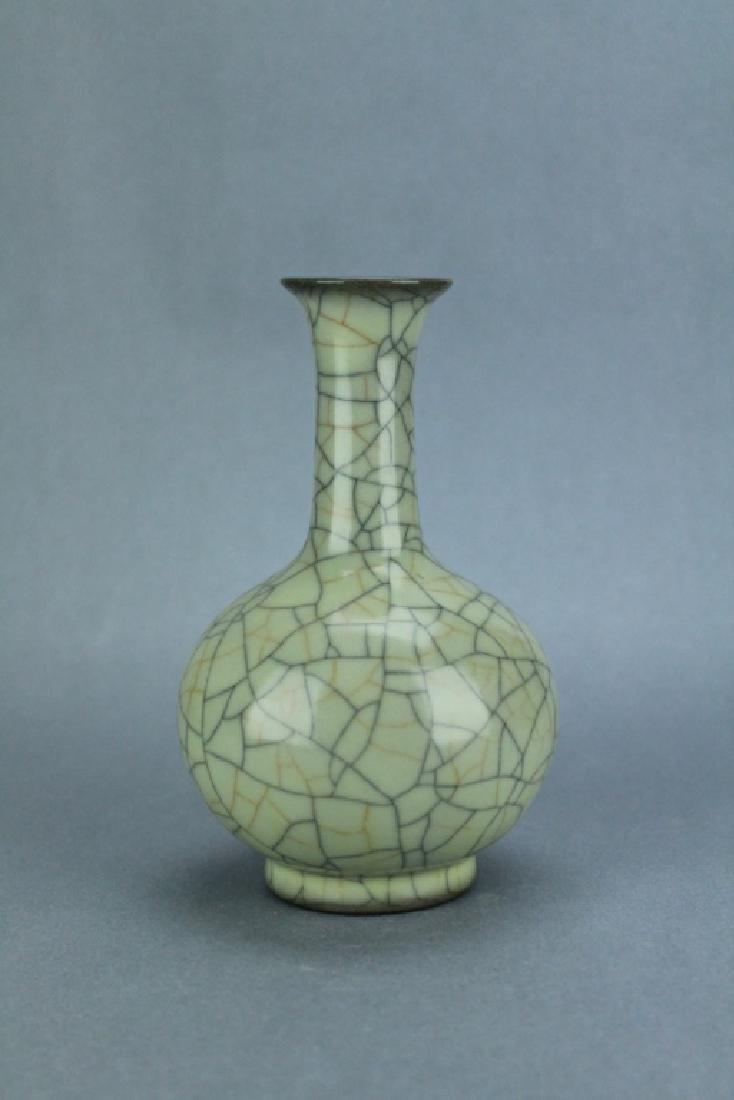 Song GuanYao Gold/Steel Line Crackle Porcelain Vas - 2
