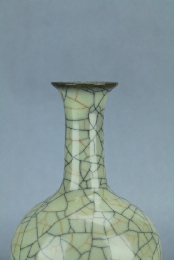 Song GuanYao Gold/Steel Line Crackle Porcelain Vas - 3