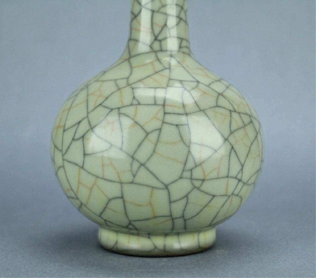 Song GuanYao Gold/Steel Line Crackle Porcelain Vas - 4