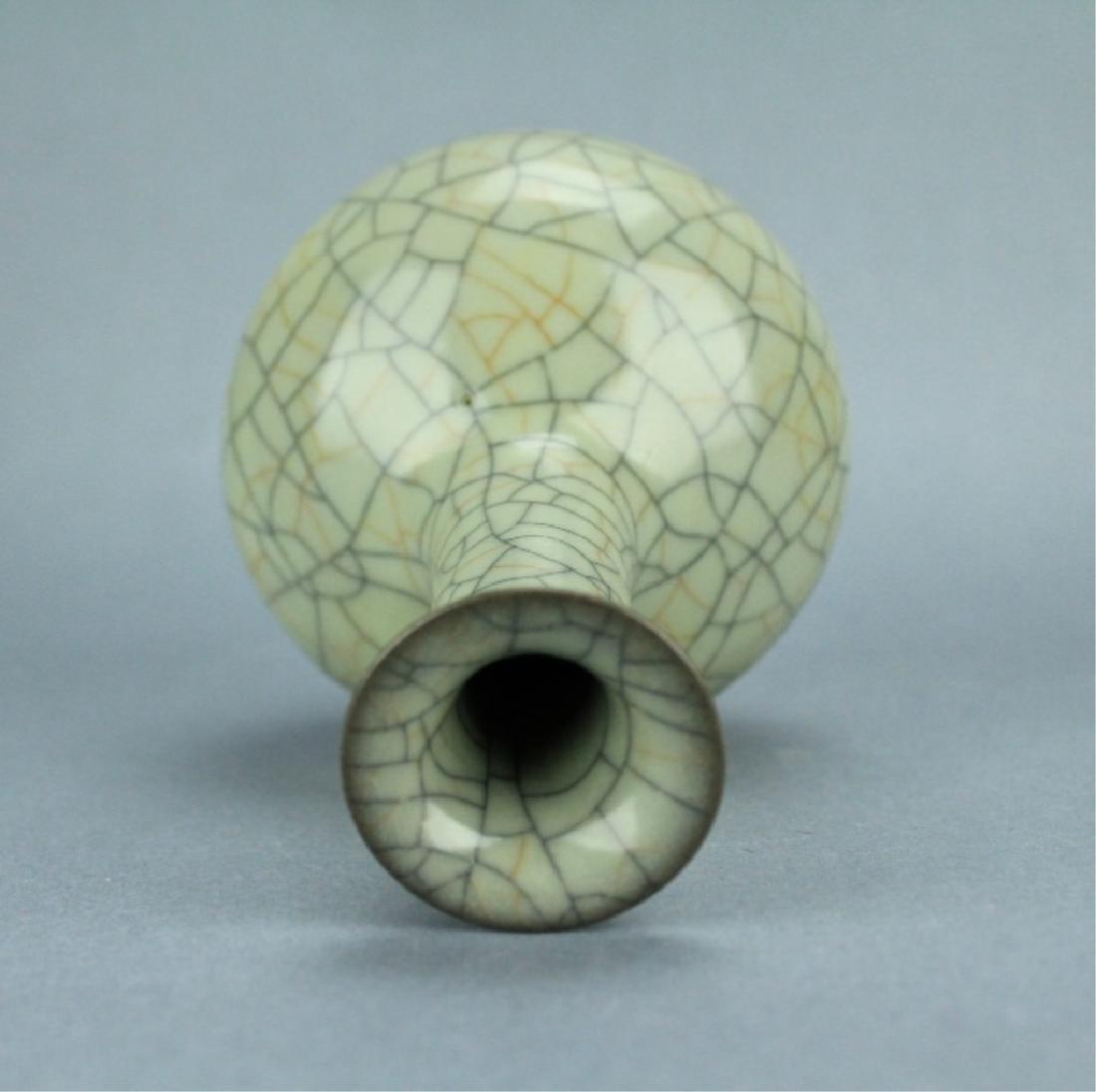 Song GuanYao Gold/Steel Line Crackle Porcelain Vas - 5