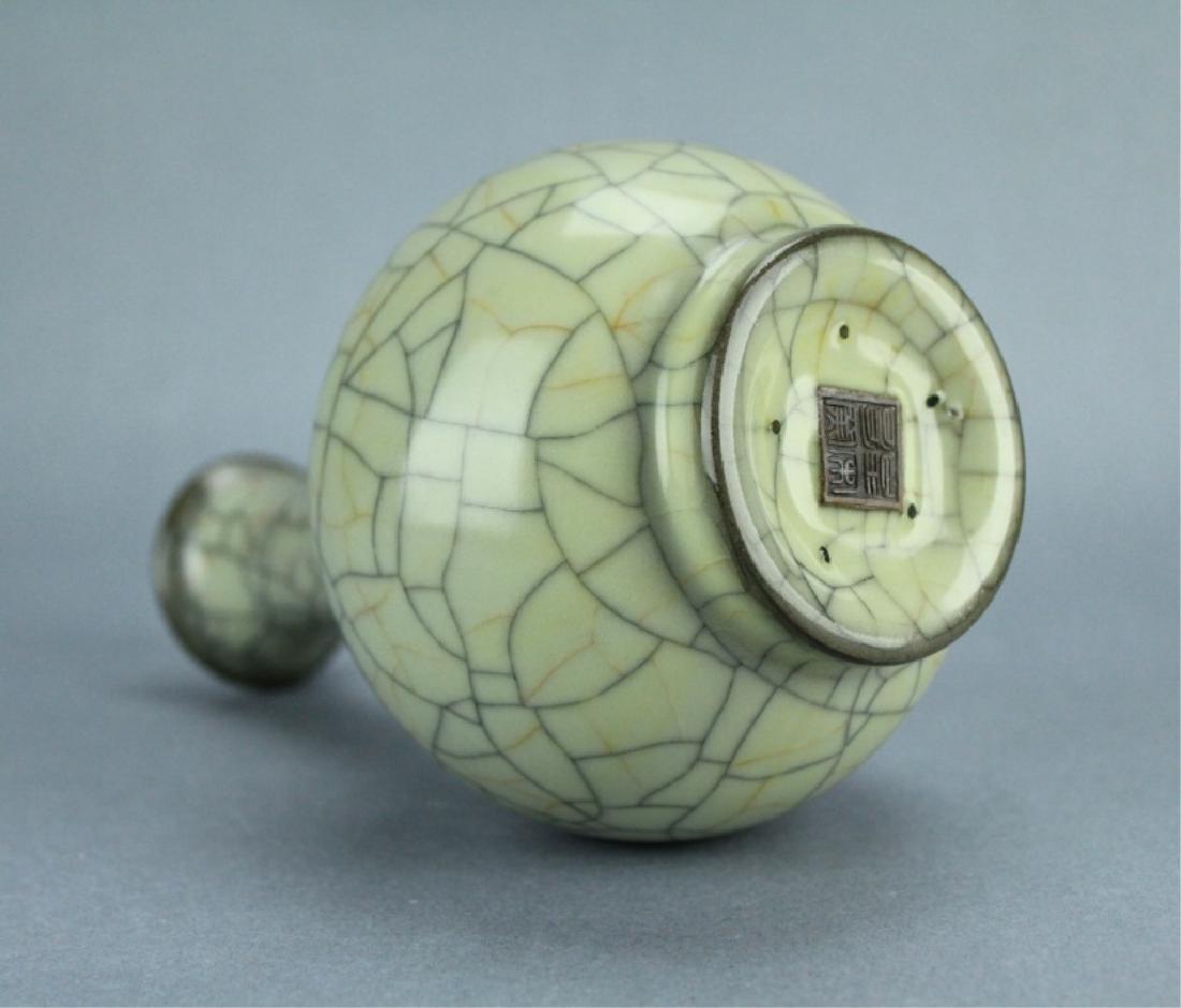 Song GuanYao Gold/Steel Line Crackle Porcelain Vas - 7