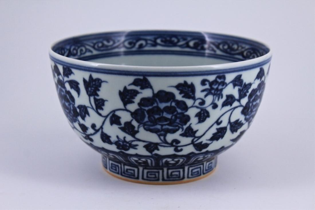 Ming Blue&White Floral Porelain Bowl