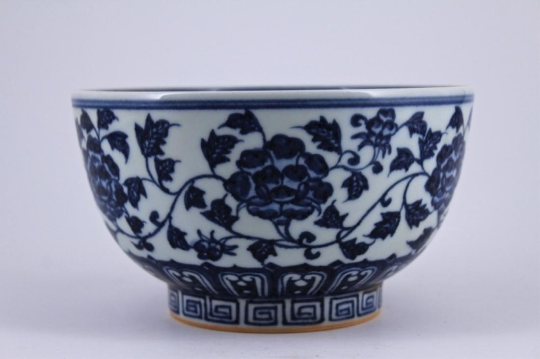Ming Blue&White Floral Porelain Bowl - 2