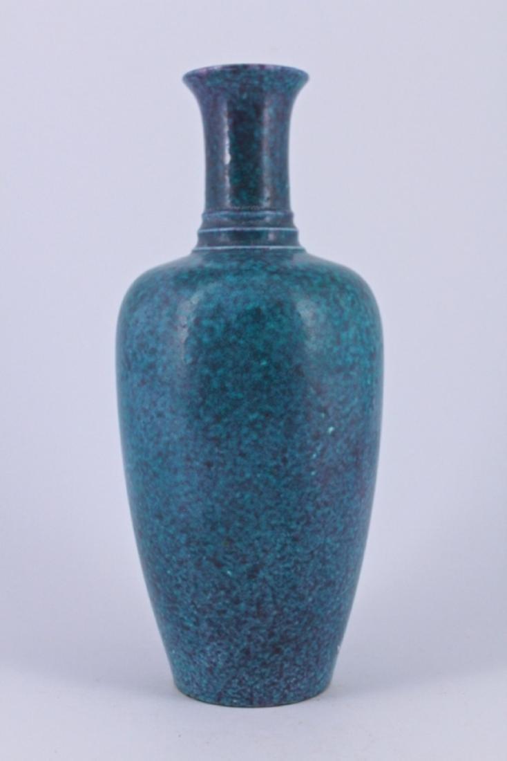Qing Blue Porcelain Vase