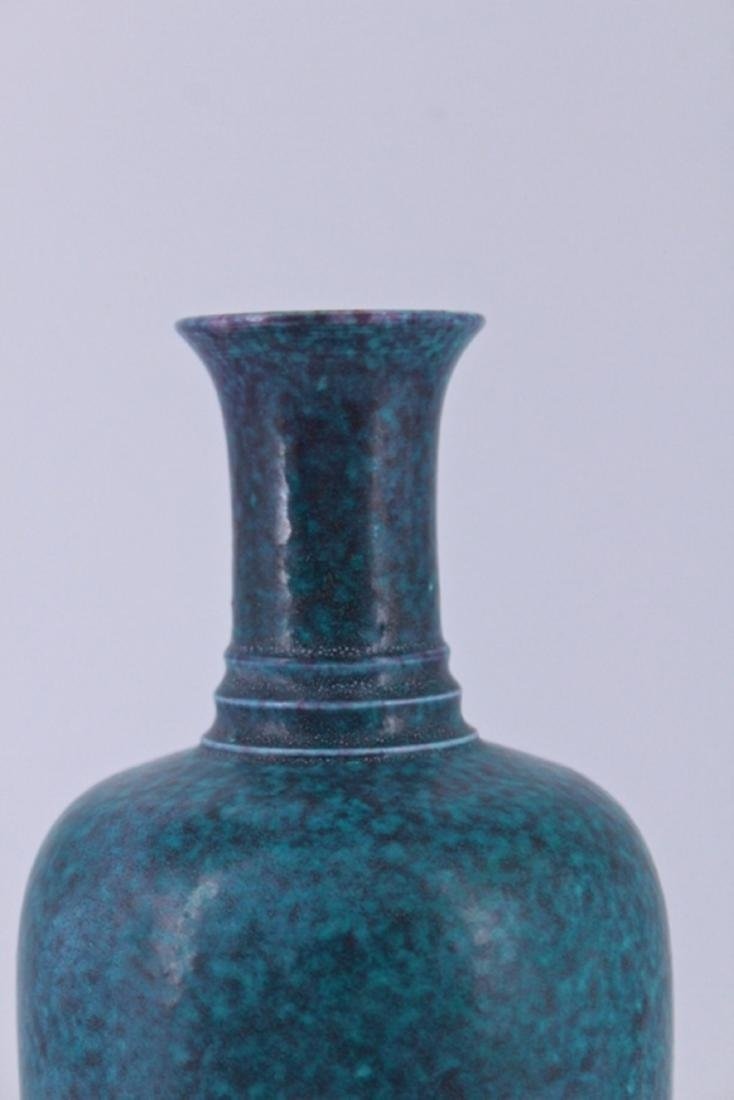 Qing Blue Porcelain Vase - 2