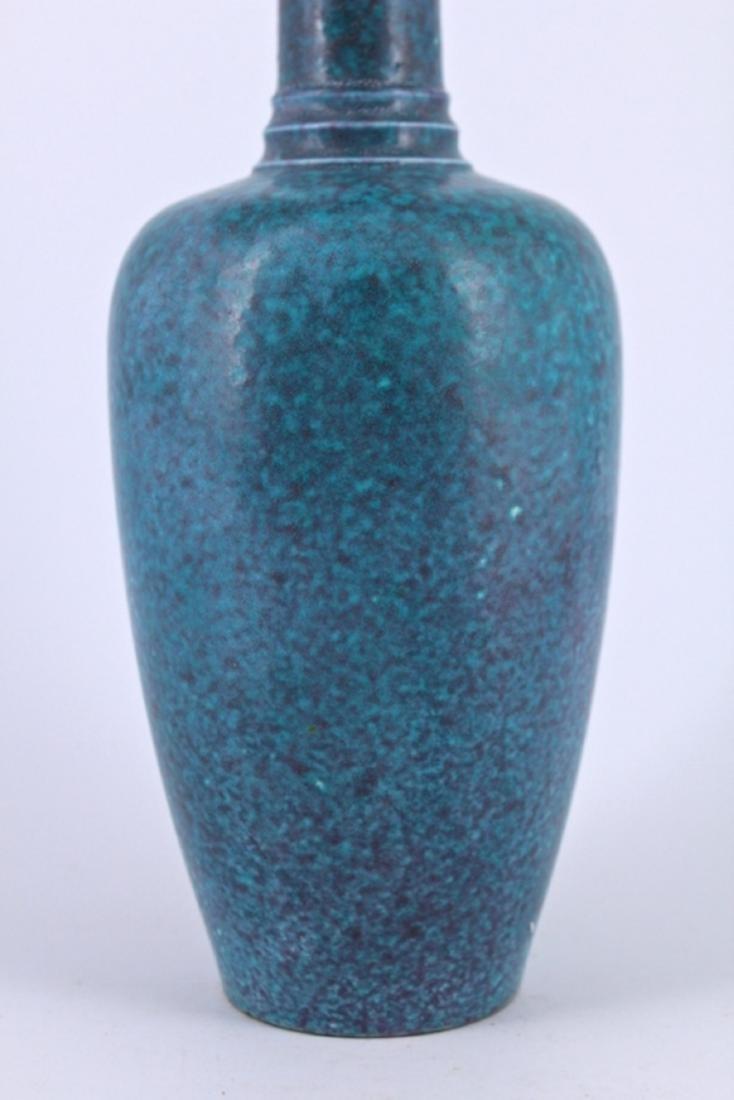 Qing Blue Porcelain Vase - 3