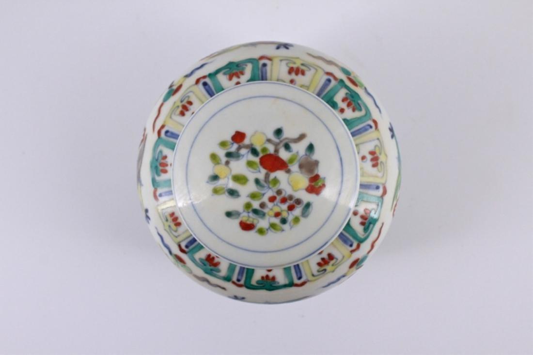 Ming Dou Cai Porcelain Jar with Lid Tian Mark - 3