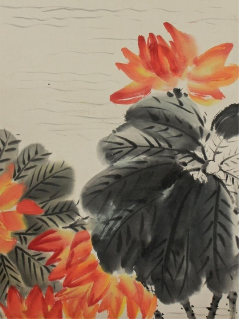 Scrolled Hand Painting signed by Qi Bai Shi - 5