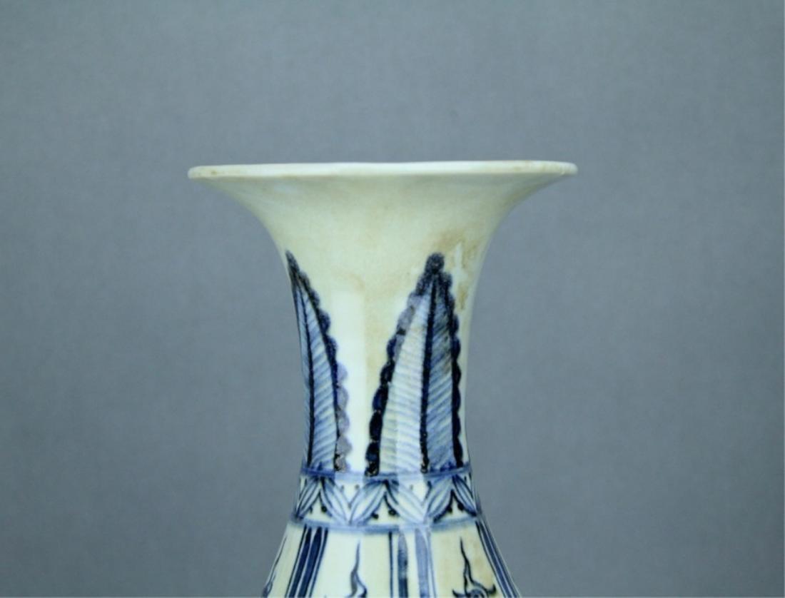 Ming Blue&White Character Porcelain Vase - 2