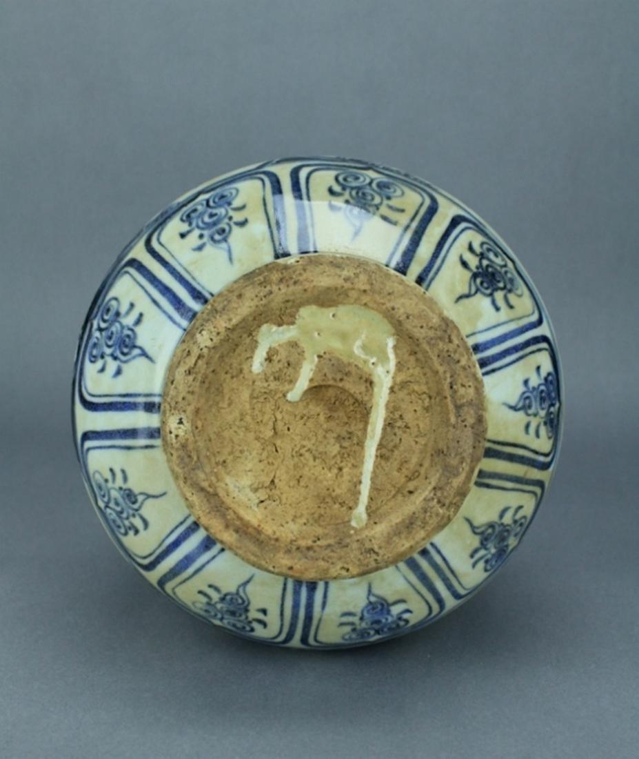 Ming Blue&White Character Porcelain Vase - 9