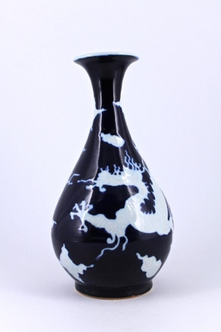 Ming Blue&White Dragon Porcelain Vase