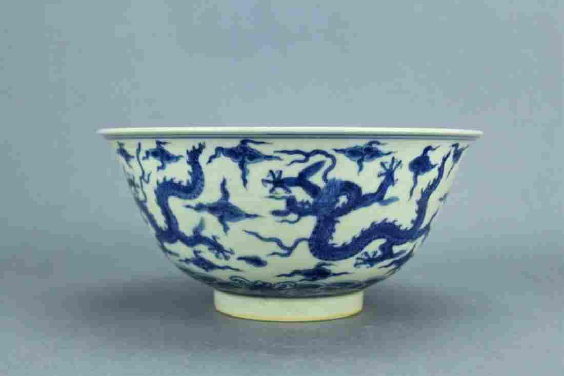 Ming Blue&White Dragon Porcelain Bowl ChengHua Mar