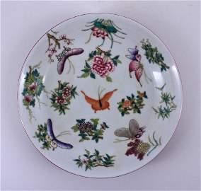 Qing Dynasty Yong Zheng Famille Rose Plate