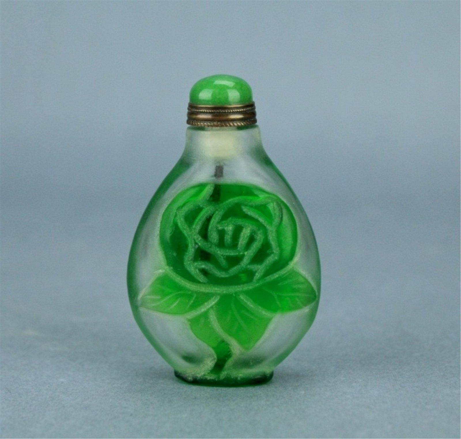 Qing Peking Glass Snuff Bottle QianLong Period
