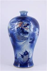 Large Chinese Qing Porcelain Blue&White Vase