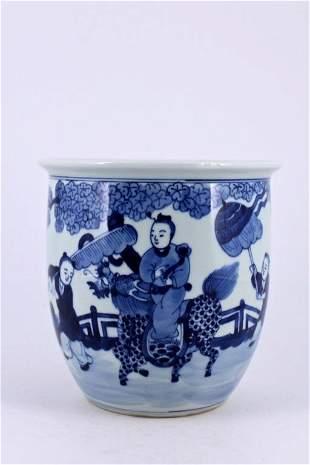 Qing Porcelain Blue&White Jar