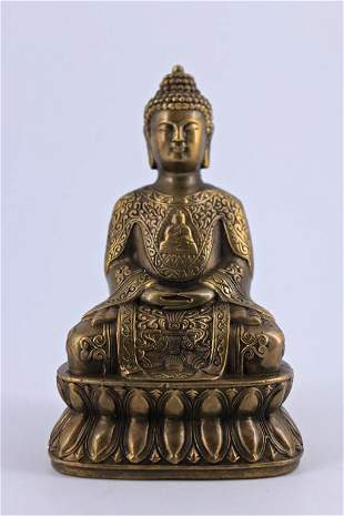 Bronze Buddha Figure Ming Dynasty